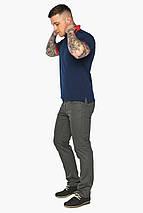 Стильная футболка поло мужская синяя модель 5815, фото 3
