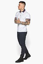 Біла практична футболка поло чоловіча модель 5785 50 (L), фото 2
