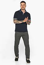 Комфортна чоловіча темно-синя футболка поло модель 5836, фото 2