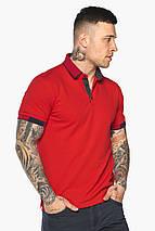 Красная модная футболка поло мужская модель 5640, фото 3