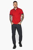 Червона модна футболка поло чоловіча модель 5640, фото 3