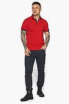 Червона модна футболка поло чоловіча модель 5640 52 (XL), фото 2