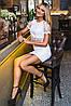 Ажурный женский юбочный костюм (2099 sk), фото 2