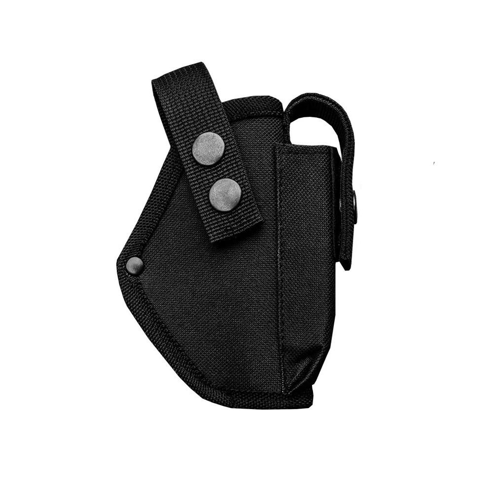Кобура поясная для пистолета Форт 12 с чехлом для магазина  черная
