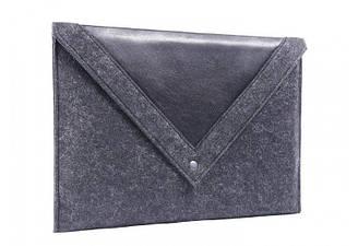 Черный чехол-конверт Gmakin для Macbook Pro 13 New с треугольной крышкой GM2313New, КОД: 196831