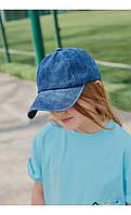 Бейсболка джинс синяя Mililook