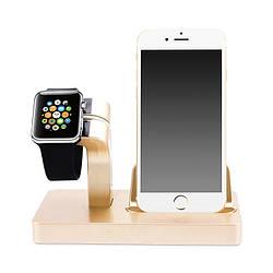 Док-станция Grand Charger Dock для Apple Watch и iPhone Gold AL2604, КОД: 1130705