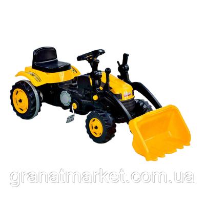 Екскаватор педальний з ковшем Pilsan 07-315, жовтий