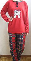 Пижама флисовая с длинным рукавом ,доставка по Украине