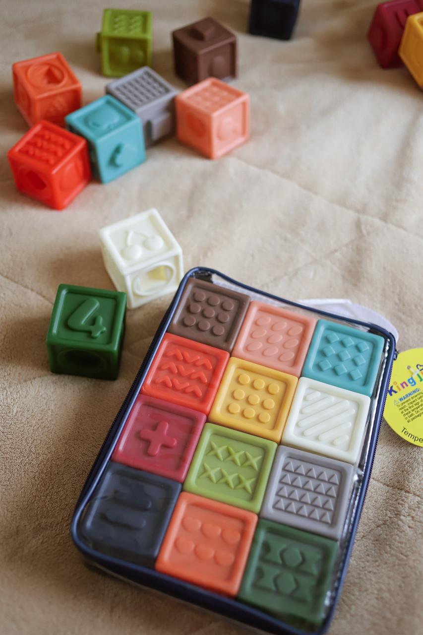 Кубики тактильные 12 шт в сумочке
