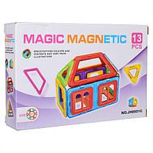 Дитячий магнітний конструктор JH8951C, 13 деталей