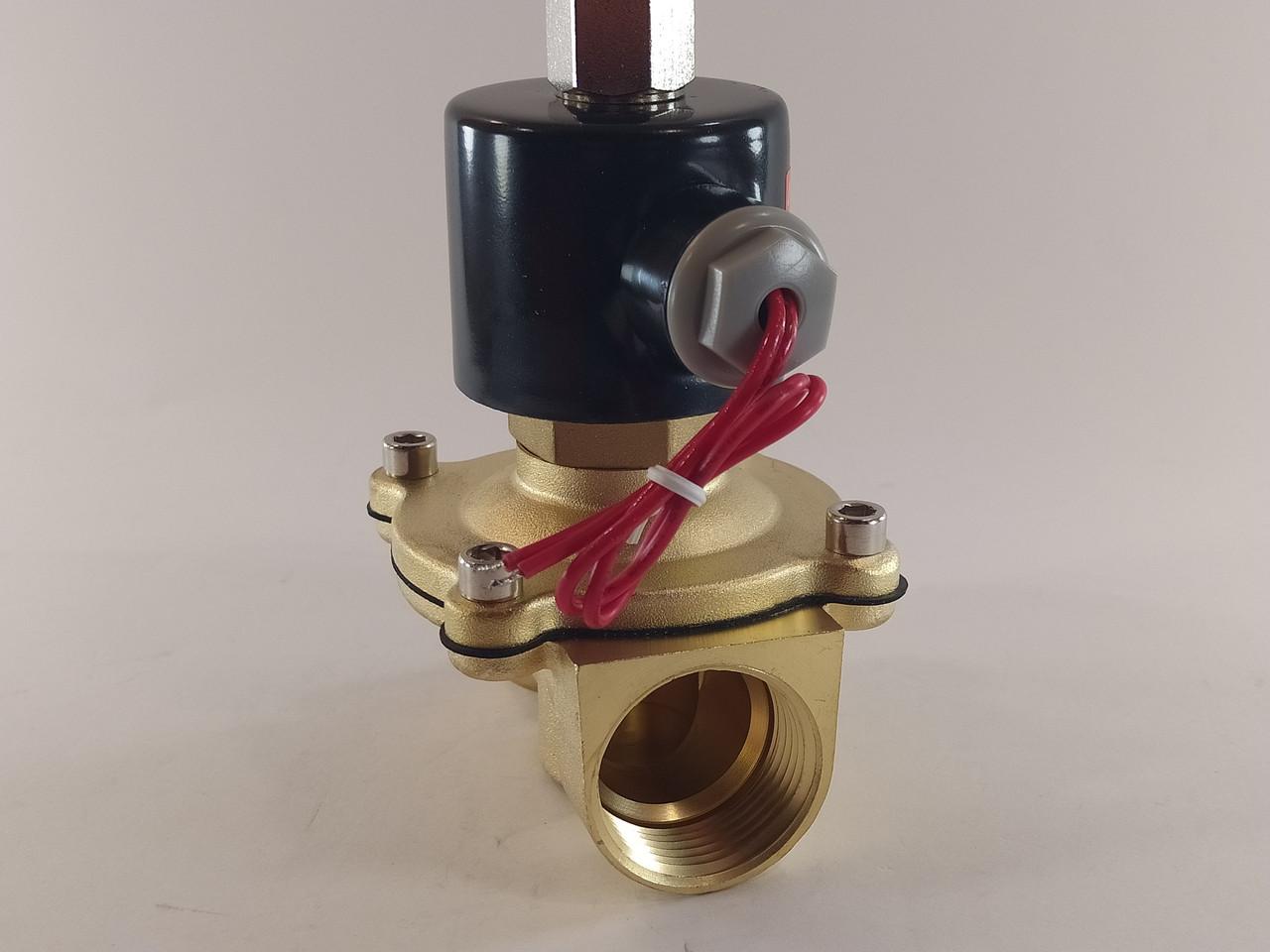 """Електромагнітний клапан 1"""" 12В нормально-відкритий"""