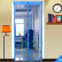 Антимоскітна сітка з візерунками на магнітах MAGIC MASH Blue москитная сетка на двери