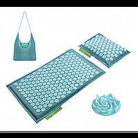 Килимок акупунктурний з валиком 4FIZJO Eco Mat Аплікатор Кузнєцова 68 x 42 см 4FJ0180 Turquoise