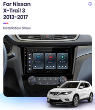 Junsun 4G Android магнітола для Nissan x-Trail X Trail, Qashqai 2014-2017 wifi