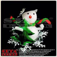 Новогодняя игрушка сувенир Снеговик с ёлочкой