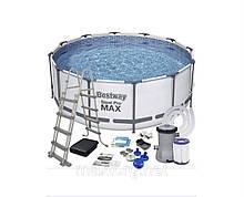 Бассейн каркасный BestWay (56420) 56088 с фильтр-насосом 366х122 см