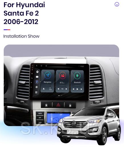 Junsun 4G Android магнитола для hyundai Santa Fe 2 2006-2012 wifi