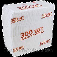 Салфетка белая барная (уп/300шт)