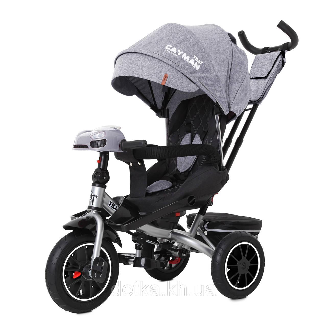 Велосипед трехколесный TILLY CAYMAN T-381/7, разные расцветки, усилненная рама, поворотное сидение, музыка