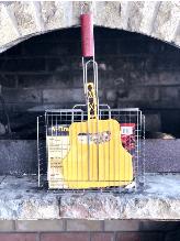 Решетка для гриля  А-Плюс 1883 с бортом +лопатка ( 33 х 4.9 х 60 см )