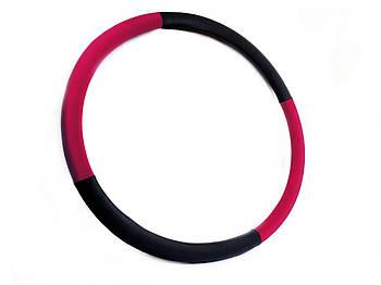 """Массажный Обруч """"Heavy Hoop"""" 1000 мм, вес 1,0 кг черно-малиновый"""