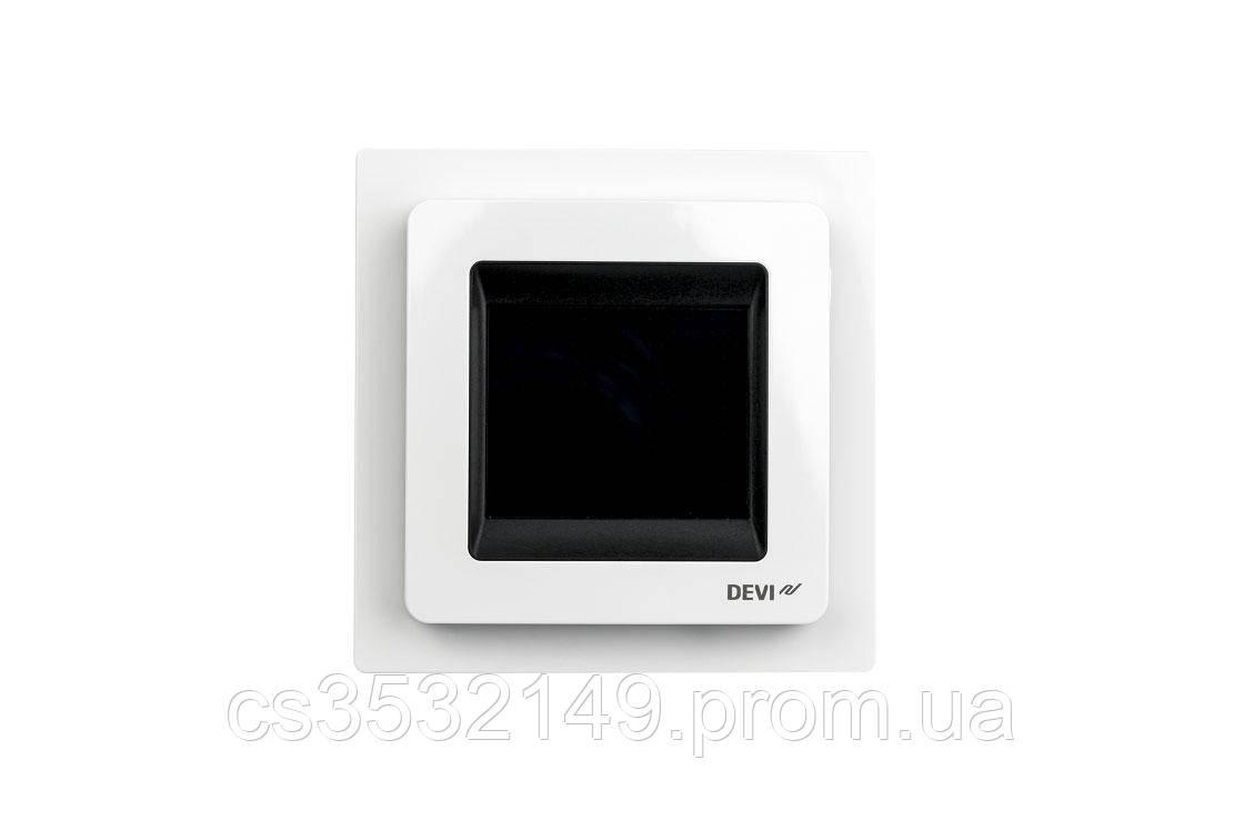 Терморегулятор программируемый сенсорный DEVIreg Touch (140F1064) Белый