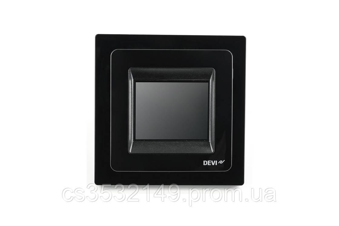Терморегулятор програмований сенсорний DEVIreg Touch (140F1069) Чорний