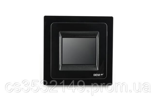 Терморегулятор програмований сенсорний DEVIreg Touch (140F1069) Чорний, фото 2