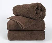 Махровий рушник 70х140 готель LOTUS Basic коричневе (20/2) 550 г/м2, фото 1