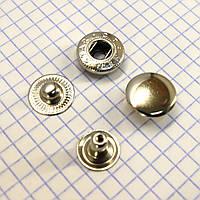 Кнопка альфа 15 мм никель Турция t5127 (50 шт.)