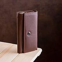 Большая кожаная ключница коричневого цвета ST Leather