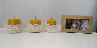 Свечи ручной работы из катаного пчелиного воска (5 свечей в упаковке с декором или меньшее кол-во по запросу), фото 2