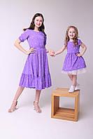 """Шикарное платье """"Горох"""" + юбка из еврофатина для девочек 92-152р от производителя"""