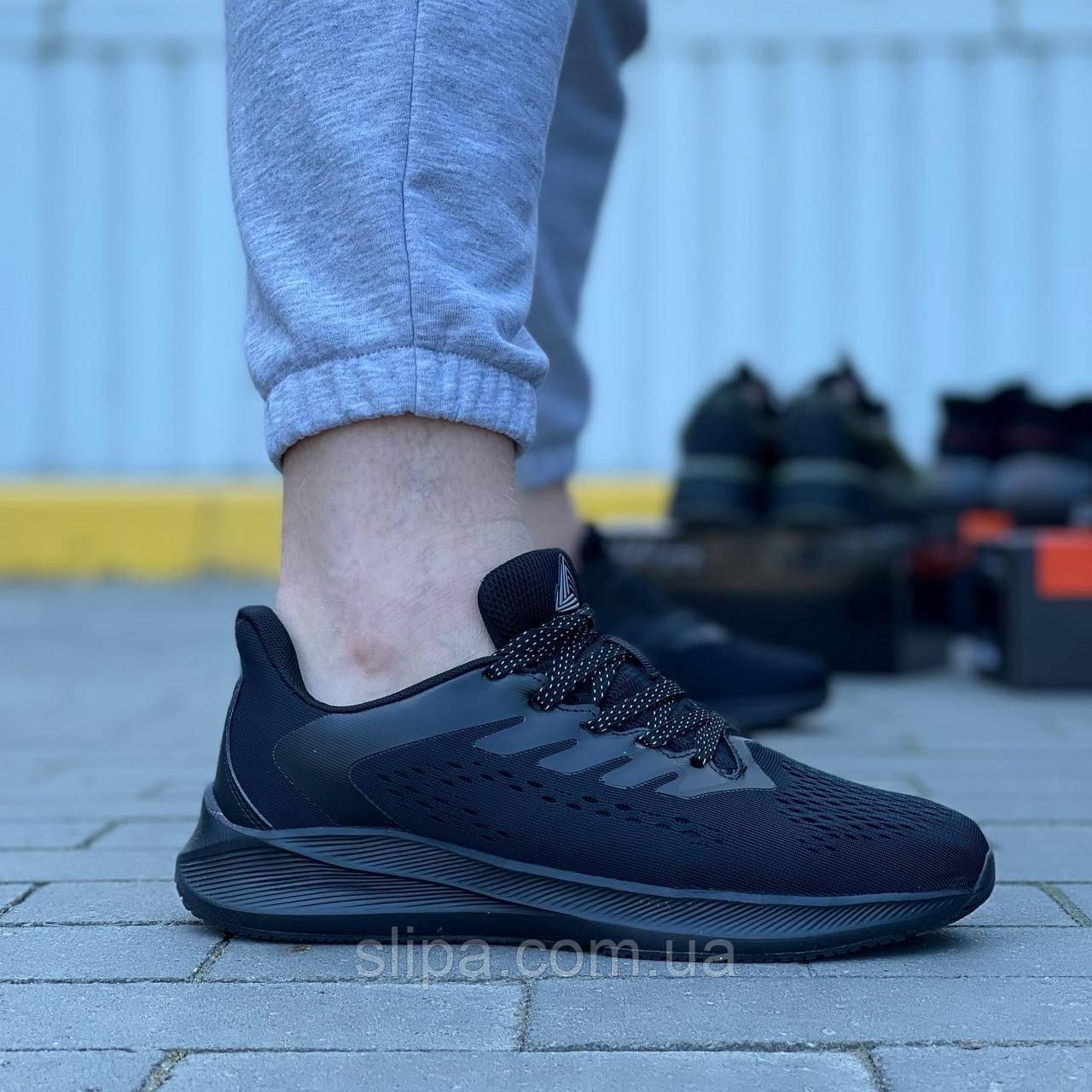 Текстильные кроссовки Stilli чёрные на чёрной подошве   текстиль + пена