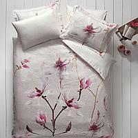 Постельное белье Tivolyo Home Orchidea bej делюкссатин евро