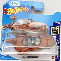 Базовая металлическая машинка Хот Вилс Hot Wheels X-34 Landspeeder оригинал Mattel Уценка