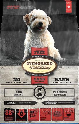 Корм Oven Baked для дорослих собак дрібних порід   Oven Baked Tradition Dog Grain Free Red Meat 2,27 кг, фото 2