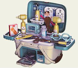 Набор доктора детский в чемодане (шприц,градусник,молоточек,акесессуары)