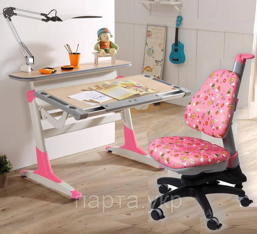 Парта-трансформер  NOBLESSE, детское кресло Y318, Тайвань, разные цвета