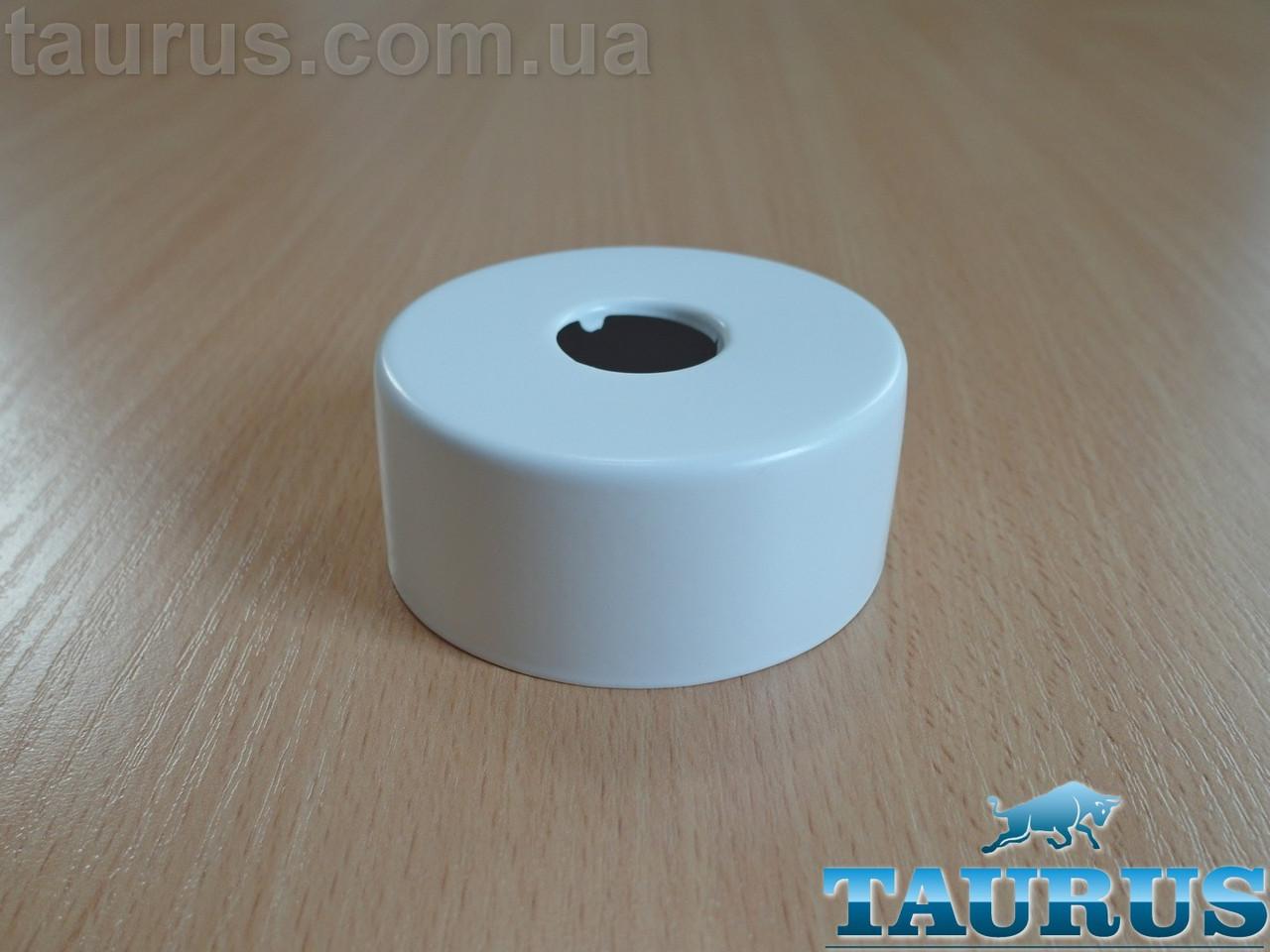 """Круглый белый высокий декоративный фланец D67 / высота 30 мм White, внутренний размер 1/2"""" (D20 мм)"""