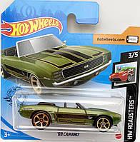 Базовая металлическая машинка Хот Вилс Hot Wheels '69 Camaro car оригинал Mattel Уценка