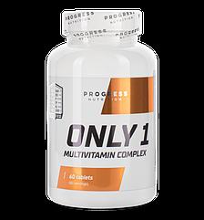 Комплекс витаминов и минералов Progress Nutrition Only 1 60 таблеток