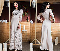 Шикарное длинное платье в пол большого размера 50-60  с перфорацией