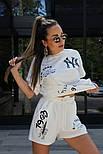 Жіночий костюм двійка річний яскравий з шортами, фото 7