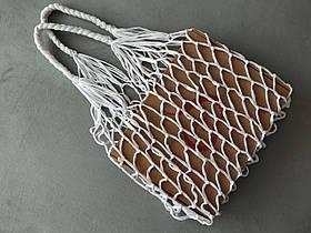 Большая сумка Авоська - белая стрейч сумка