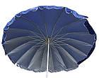 Зонт пляжний з клапаном і срібним напиленням, діаметр 3м., 16 спиць, Синій, фото 2