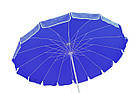 Зонт пляжний з клапаном і срібним напиленням, діаметр 3м., 16 спиць, Синій, фото 5