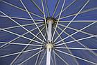 Зонт пляжний з клапаном і срібним напиленням, діаметр 3м., 16 спиць, Синій, фото 6