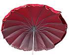 Зонт пляжний з клапаном і срібним напиленням, діаметр 3м., 16 спиць, Червоний, фото 2